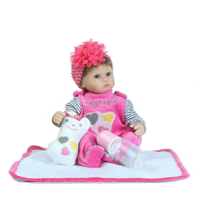 NPK Reborn Baby Doll 42 см мягкие силиконовые куклы Reborn Baby Реалистичная кукла Reborn Boneca BeBe Reborn Doll для девочек и мальчиков