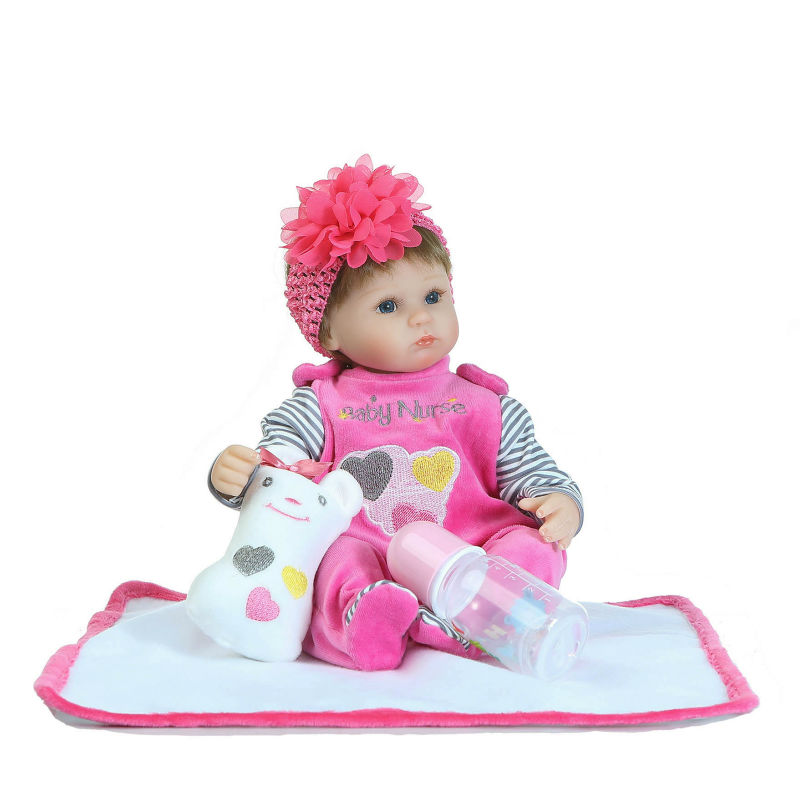 NPK Reborn Baby Doll 42cm Soft Silicone Reborn Dolls Baby Realistic Doll Reborn Boneca BeBe Reborn Doll For Girls&Boys npk brand doll reborn long brown hair princess baby dolls soft silicone toddler girls toys boneca reborn realista