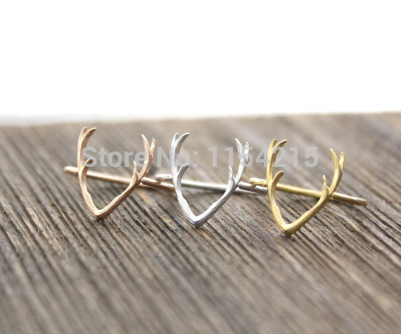 Fashion Antler Deer Rings for Women Simple Rings Baby Child Christmas Gift ring deer Drop shipping service