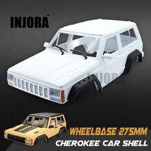 Cherokee INJORA Plástico Duro 275mm Distancia Entre Ejes Cuerpo TF2 Cáscara Del Coche para 1/10 RC Rock Crawler RC4WD D90 MST
