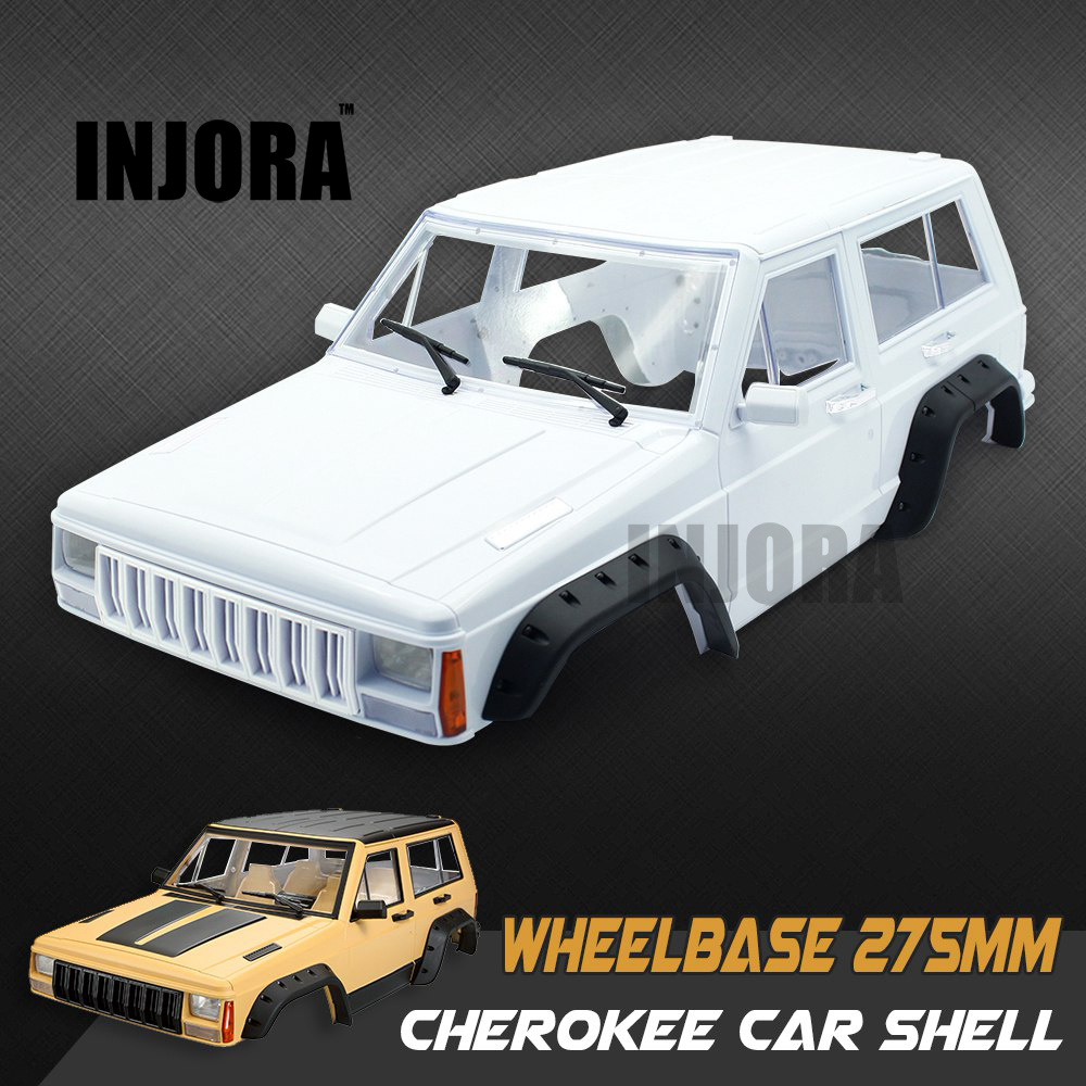 Oyuncaklar ve Hobi Ürünleri'ten Parçalar ve Aksesuarlar'de INJORA Sert Plastik 275mm Dingil Mesafesi Cherokee Vücut Kabuk için 1/10 rc kaya paleti D90 TF2 MST'da  Grup 1