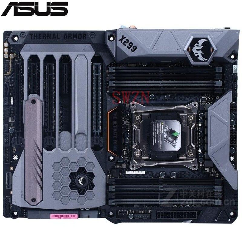 original New Desktop motherboard For ASUS TUF X299 MARK 1 X299 LGA 2066 8*DDR4 support 128G 8*SATA III 2*M.2 ATX rog strix x299 xe gaming x299 atx motherboard 802 11ac wi fi ddr4 dual m 2 sata 6gbps usb3 1 desktop mainboard