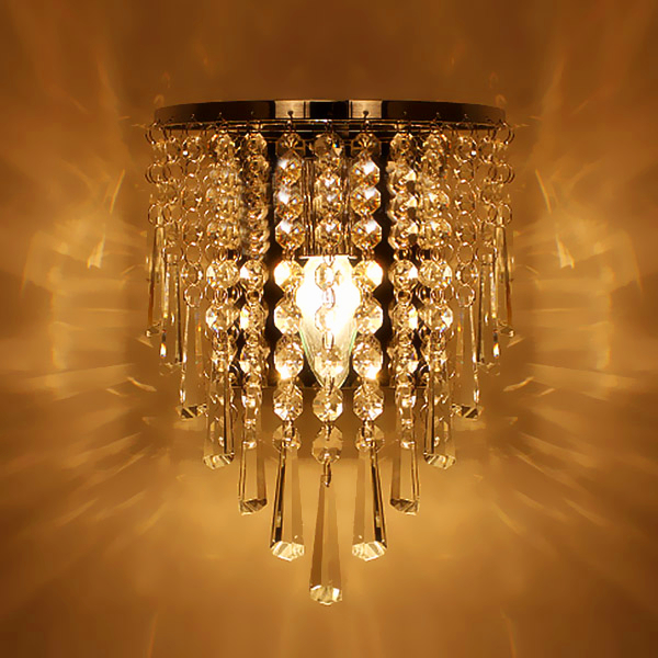 Modern Crystal Chandelier Wall Light Lighting Fixture E14 LED wall Lights led wall lamps e27 25w ac220v 240v 98pcs 5730smd warm white led corn light