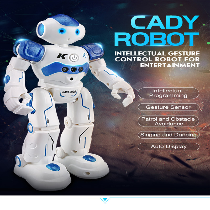 JJRC R2 Programmable Defender USB Charging Dancing IR Remote Control RC Robot Intelligent Obstacle Avoidance Gesture intelligent wireless remote control robot dog kids dancing walking dog