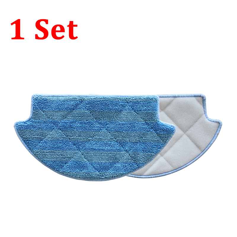 2pcs Cleaning Mops For XIAOMI Robot Vacuum Cleaner 1 Set Blue Cotton Mops Vacuum Spare Parts Accessories for kk8 front wheel for vacuum cleaning robot 2pcs pack