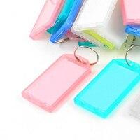 10pack (25 Pcs Multicolor Plastic Key ID Label Tags w Split Ring Keyring