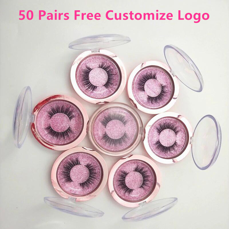 50 Pairs 3D mink lashes false eyelashes natural long lashes professional handmade makeup beauty cosmetic tools make logo free