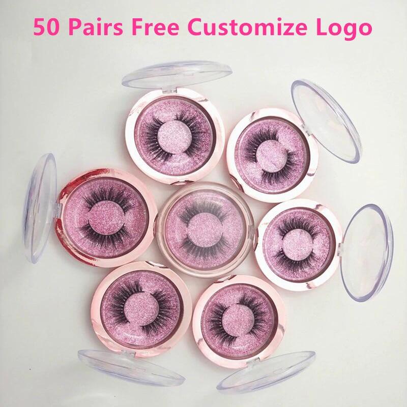 False Eyelashes Cheap Price 50 Pairs 3d Mink Lashes False Eyelashes Natural Long Lashes Professional Handmade Makeup Beauty Cosmetic Tools Make Logo Free 100% Original