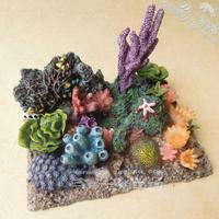 pvc figure SimulationThe simulation model toy scene model decoration coral sea garden