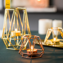 RUX WORKSHOP Modern Geometric Candlestick Nordic wrought iron Candle Holders Weddings Home Decoration Metal Crafts
