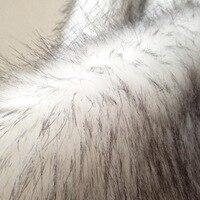 Plush Faux Fox Wool Fabric DIY Fashion Garment Material Topper Dyed Faux Fur Fabric
