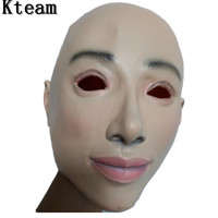Top Grade Halloween Party Cosplay Female&Male Face Mask Latex Party Real Human Crossdress Skin Mask Cool realistic mask Costume