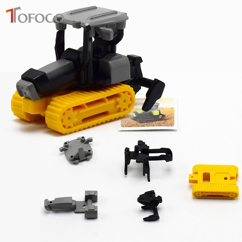 TOFOCO 1Pc Super Mini DIY Assembly Farm Machinery Tractor Engineer Construction Vehicles Toys Cars Toys For Kids Birthday Gift
