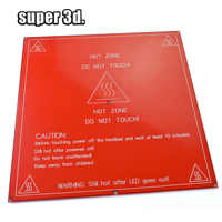 MK2B lit chauffant construire Ultrabase PCB MK2 B Hot HotBed plaque de verre support 214mm x 214mm 12V 24V mis à niveau pour imprimante 3D RepRap