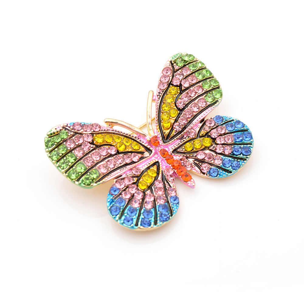 CINKILE броши-бабочки в стразах для Для женщин модные милые брошки в форме насекомых пальто свитер-корсаж красивые украшения высокое качество