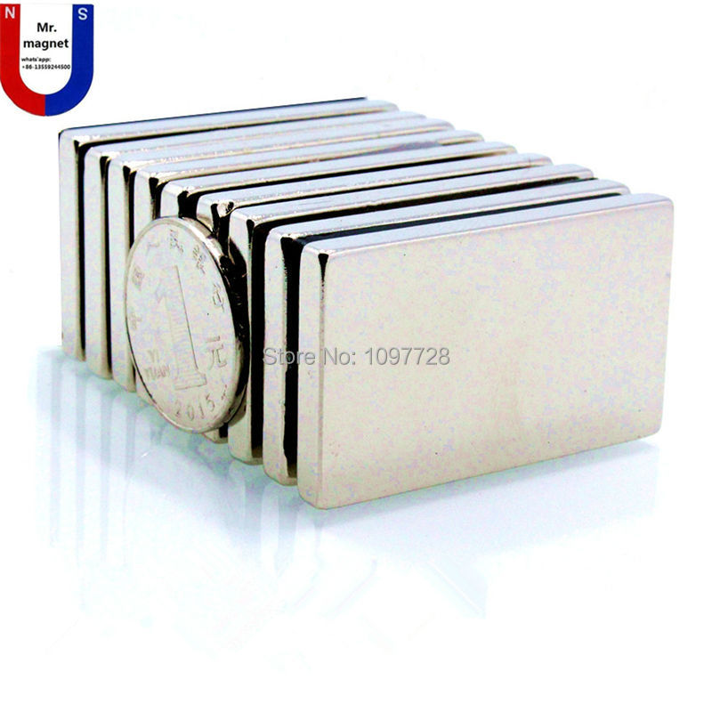 10pcs 60x40x5mm Super strong neo neodymium magnet 60x40x5, NdFeB magnet 60*40*5mm, 60mm x 40mm x 5mm magnets 60mmx40mmx5mm free shipping czh618f 100c 100w 2u fm stereo radio transmitter exciter power adjustable from 0 to 100w
