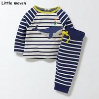 Little Maven Children S Clothing Sets 2017 New Autumn Boys Cotton Brand Long Sleeve Striped Cloth