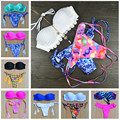 Bikinis Swimwear Female Biquinis Feminino 2017 White Vintage Sexy Push up Brazilian Thong Bikini Set Swimsuit Praia Beachwear