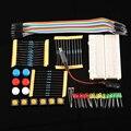 Eletrônica inteligente Integrado botão Starter Kit UNO R3 mini LED Breadboard jumper fio para arduino kit compatile Frete Grátis