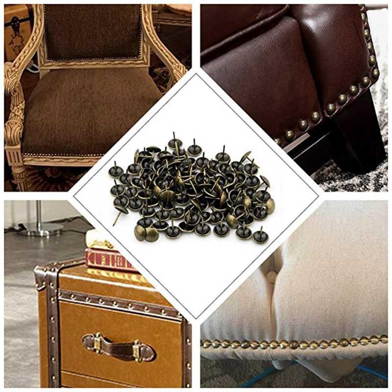 100PC античные бронзовые ручки обивка ногтей ювелирные изделия Подарочный винный набор коробка для дивана декора