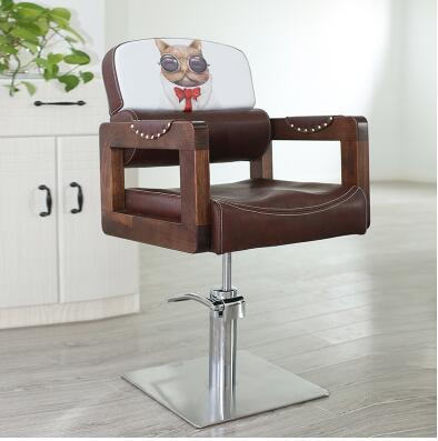 Купить с кэшбэком European barbershop chair. Retro hair chair1 Can be inverted clipping chair