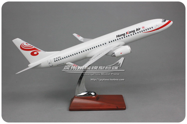 40cm Resin B737 HongKong Air Airplane Model Boeing 737-800 Airlines Airways Model HK B-KBE De Aviation Aircraft Stand Model Toys vitacci vitacci куртка серая