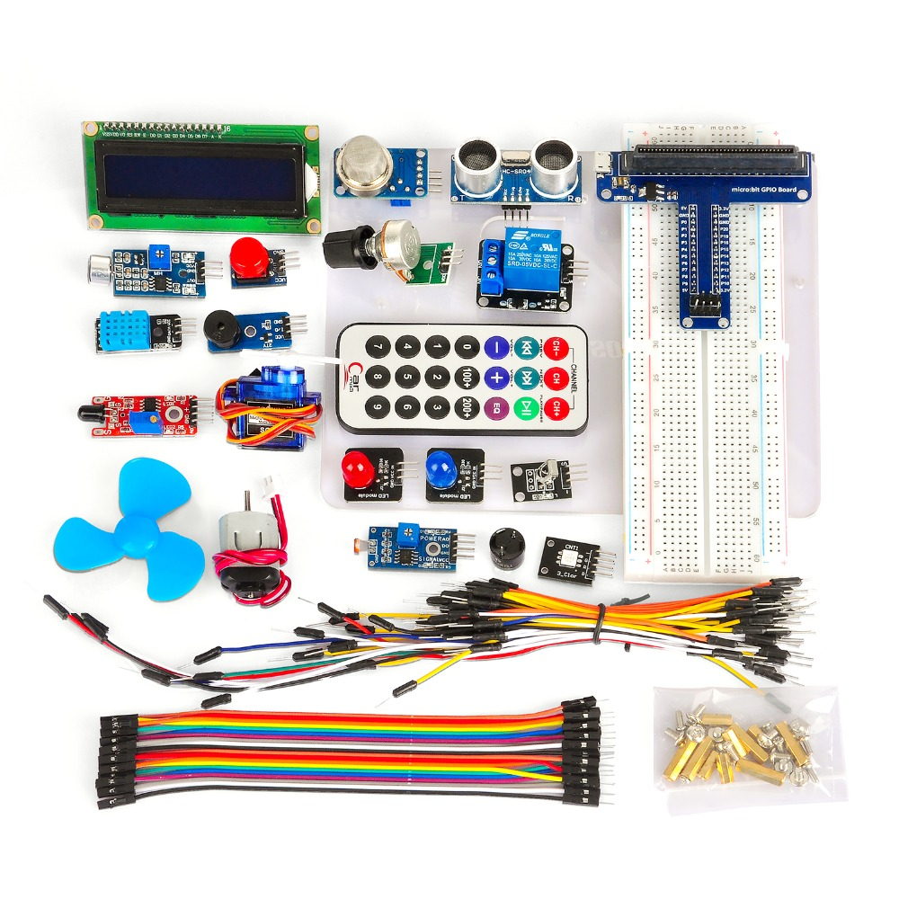 OSOYOO Starter Learning Kit for BBC Micro Bit With Detailed tutorial Used for Classroom Teaching and DIY Beginners alphabot2 robot building kit for micro bit with controller bbc micro bit