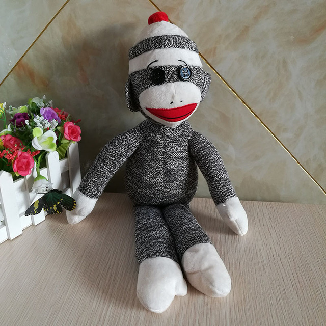 Sock Monkey Ty Beanie Babies 1pc 40cm Monkey Stuffed Animals Kids