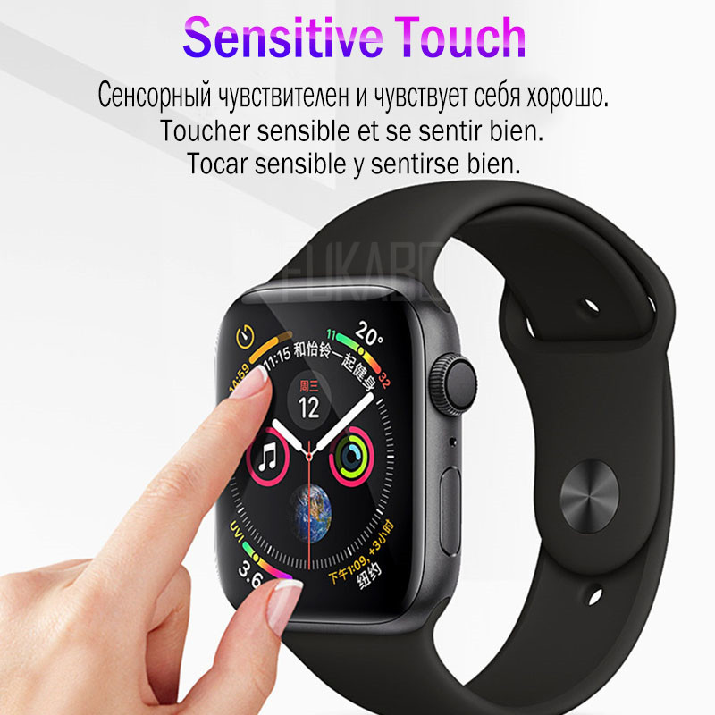 Image 4 - 10D screen protection For Apple Watch Series 4 Watch 3 2 1 Protective Film For Apple Watch 4 3 2 1 38 40 42 44 MM HD Soft Film-in Phone Screen Protectors from Cellphones & Telecommunications