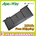 "Apexway 35WH 7.3V New A1375 Battery For Apple Macbook Air 11""MC505LL/A MC506LL/A MC507LL/A MC969LL/A"
