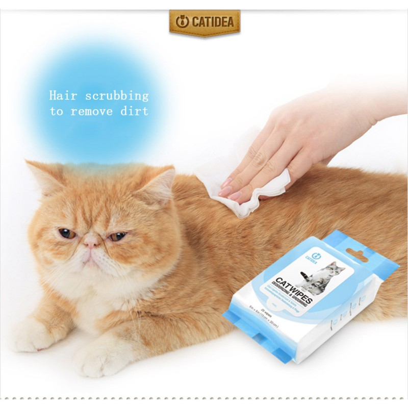 Pet Hypoallergenic Wipes for Cats Deodorizing Grooming Wipes for Paws Body Butt Eye Stain Remover Pet Product Towel image