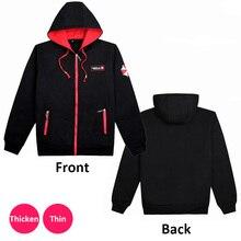 Luogen Game Resident Evil Umbrella Cosplay Sweatshirt Hooded Zip Up Black Jacket