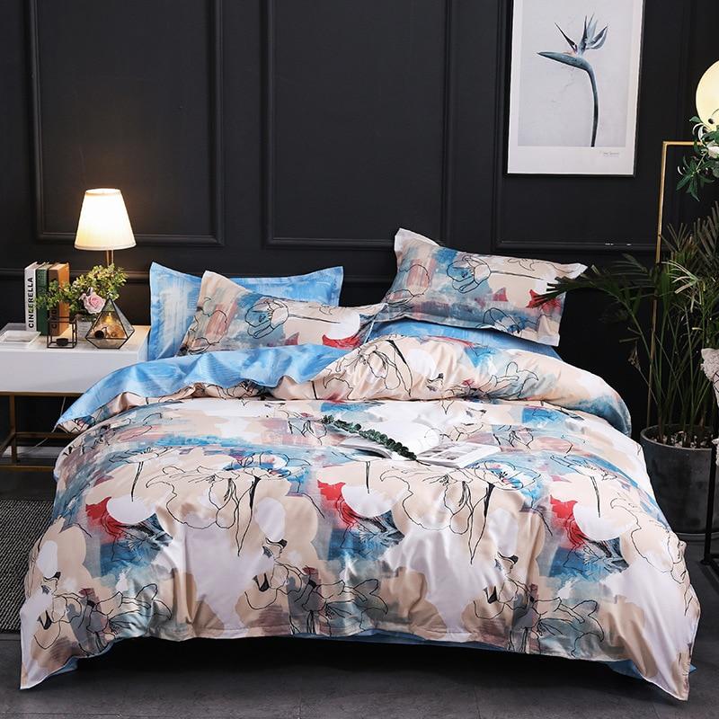 Europe, America,Japan Melbourne three Sheet Full Size Pillowcase&Duvet Cover Sets 3&4 pcs bedding set luxury