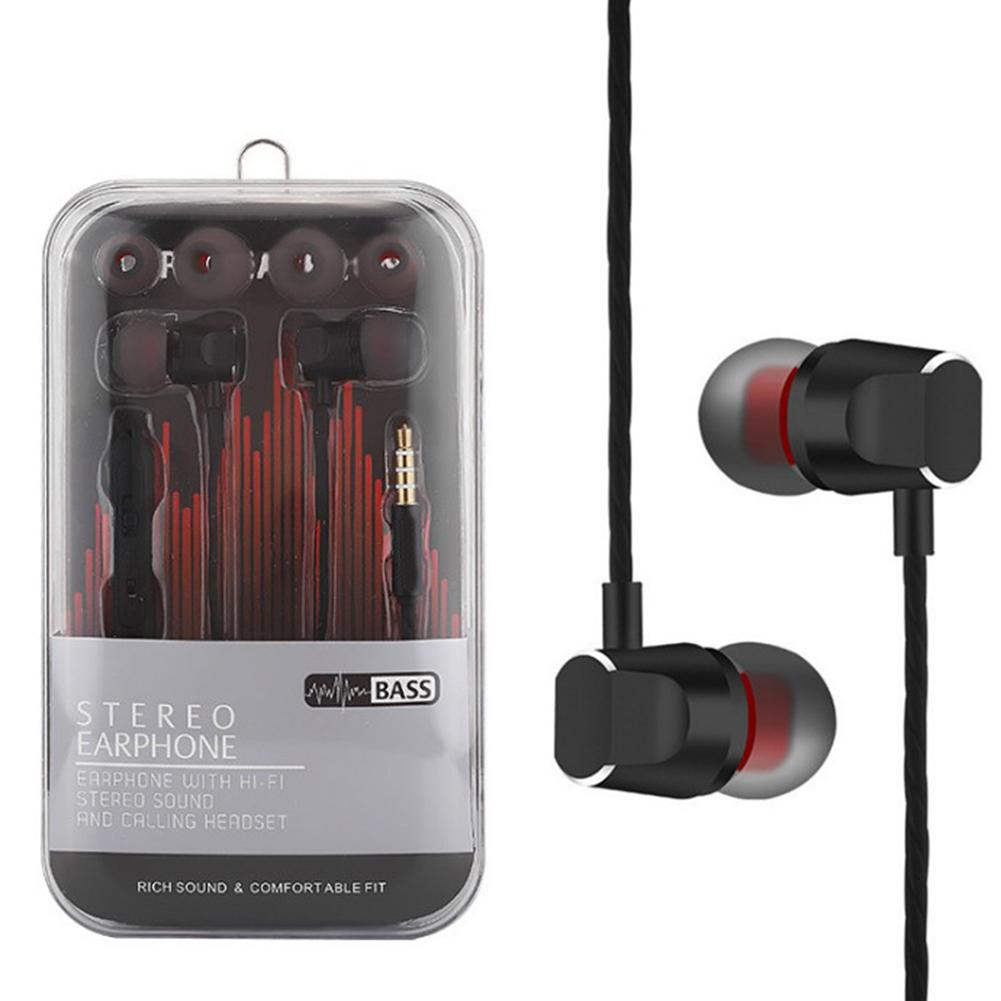 Metal In-ear Remote Control With Microphone Sports Headphones