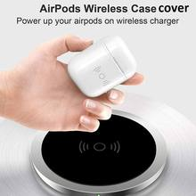 Bluetooth Wireless Earphone Charger Case For AirPod Wireless Charging Receiver Cover Compatible With Any Wireless Charger