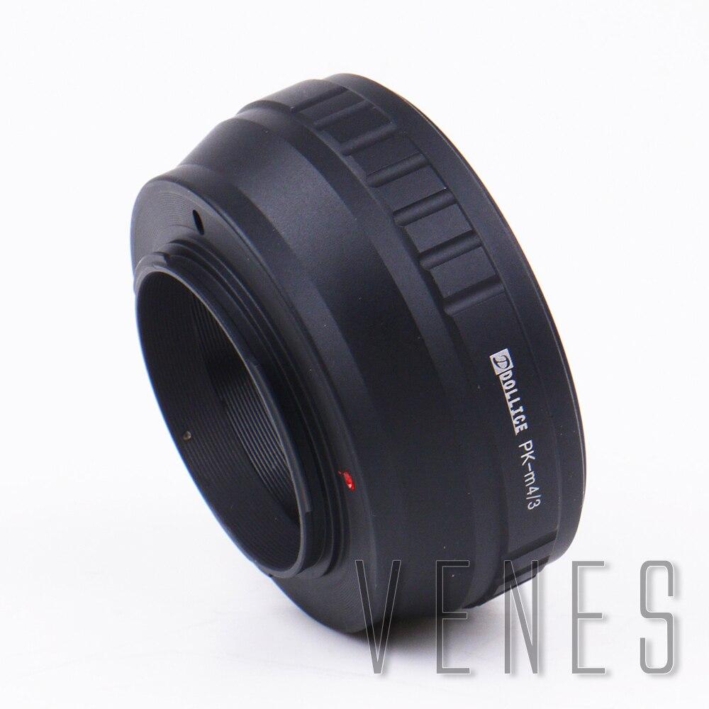 Dollice Adaptadores para objetivos para Pentax PK lente a micro cuatro tercios 4/3 M4/3 m43 cámara para Panasonic gx85 gx8 G7 gf7 gh4 GM1 gx7