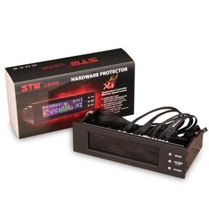 Image 3 - 5.25 بوصة 12 فولت جهاز كمبيوتر شخصي جهاز تحكم بالمروحة 3 جهاز تحكم في سرعة المروحة درجة الحرارة الاستشعار LCD شاشة ديجيتال اللوحة الأمامية للكمبيوتر