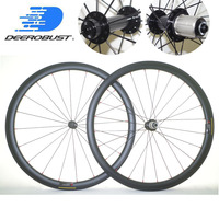 1029g Lightest 700c 38mm x 25mm U Shaped Tubular Road Bicycle Carbon Wheels Bike Wheelset Powerway R13 Extralite hub UD 3K Twill