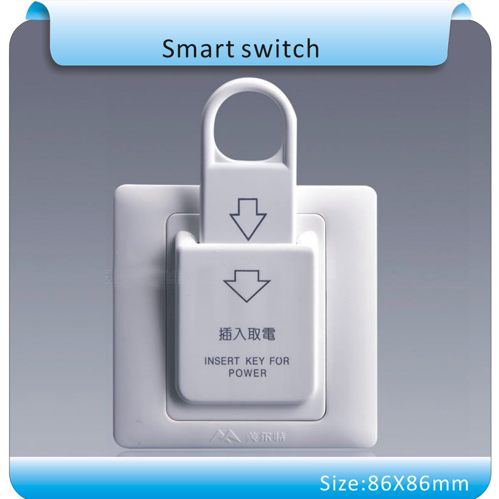 10pcs 86X86mm High Grade Hotel Magnetic Card Switch 220V/25A ,energy saving switch,Insert Key for power,without time delay