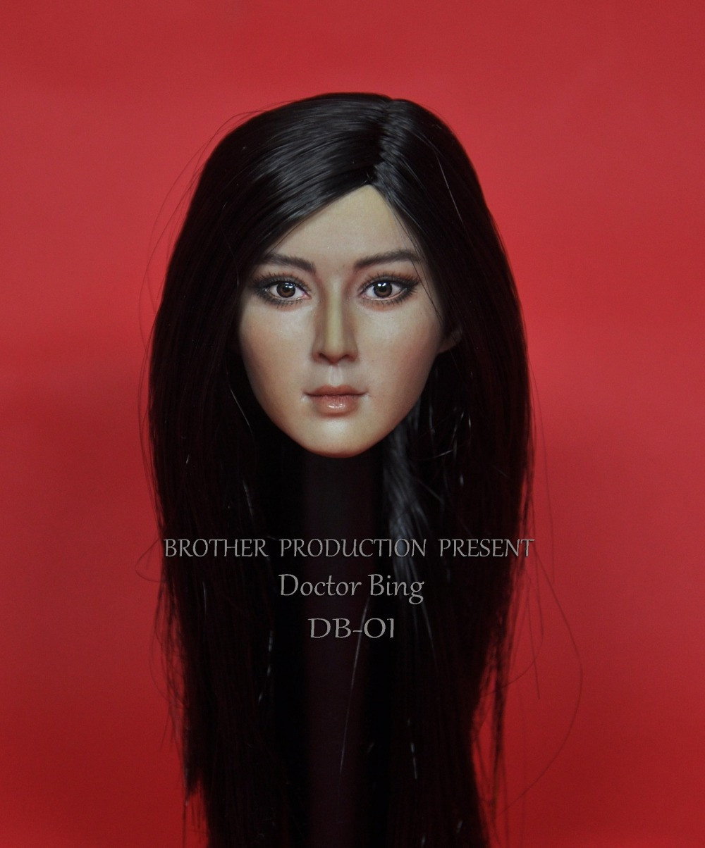 1/6 scale female head shape for 12 action figure doll accessories  Li bingbing head carved not include body,clothes and other 1 6 scale figure doll clothes male batman joker suit for 12 action figure doll accessories not include doll and other 1584