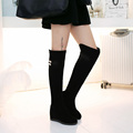 New women boots over the knee boots fashion female winter warm boots Drop Shipping Black