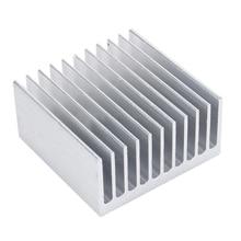 1 Piece White 11 Tooth Aluminium Radiator Heatsink Cooler Electronic Heat Dissipation Sink 4cm*4cm*2cm Mayitr