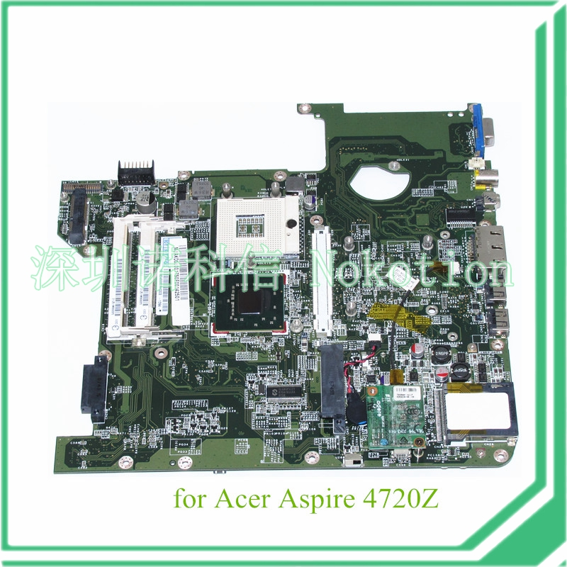 NOKOTION DA0Z01MB6E0 REV E MBAKD06001 MB.AKD06.001 for acer aspire 4720 4720Z laptop motherboard GL960 DDR2 laptop motherboard fit for acer aspire 5551 5551g mbptq02001 mb ptq02 001 new75 la 5912p ddr3 mainboard