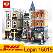 Лепин вид на улицу города 4002 шт. 15019 квадратный магазин Модель Строительный блок кирпичи образовательные игрушки для детей Подарки
