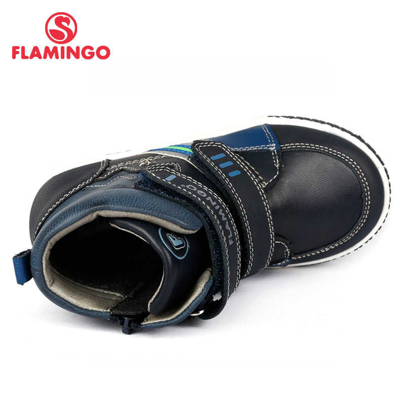 FLAMINGO Herfst Warm Patch Mode Kinderen Laarzen Hoge Kwaliteit Anti-slip Kinderen Schoenen voor Jongen Maat 25-30 gratis Verzending 72B-XY-0356