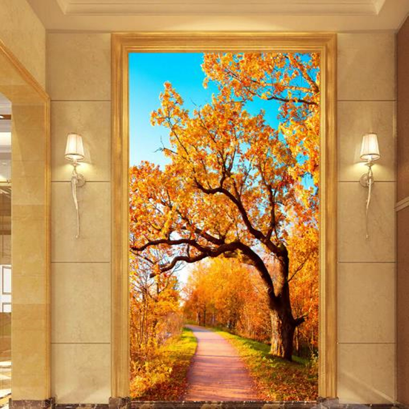 Custom Photo Wallpapers for Walls 3D Landscape Fresco Murals For Living Room Hallway Corridor Wall Papers Woods Forest Painting custom photo size wallpapers 3d murals for living room tv home decor walls papers nature landscape painting non woven wallpapers