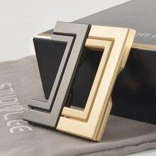 2.5'' Tatami Hidden Handles Drawer Modern Recessed Knobs Pulls Handles Tatami Platform Ultra-thin Flat Handle 64mm