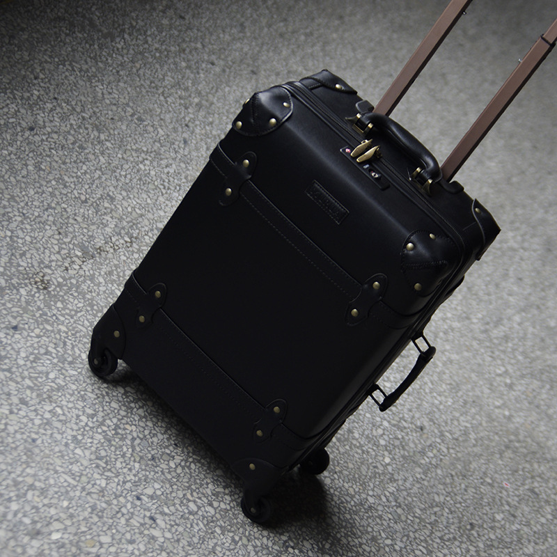 Letrend Vintage Suitcase Wheels Rolling Luggage Spinner 20 inch Student Zipper Carry On Travel Bag Men Retro Cabin Trolley in Rolling Luggage from Luggage Bags