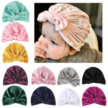 New Velvet Baby Hat for Girls Autumn Winter Baby Bo