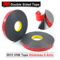 3M 5915 VHB double sided tape,thickness 0.4mm Black pressure sensitive and closed cell acrylic foam tape,10MM*33M 1Roll/Lot